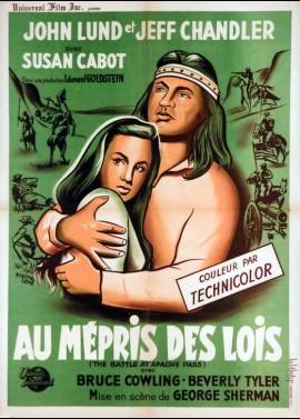 affiche du film AU MEPRIS DES LOIS