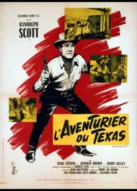 affiche du film AVENTURIER DU TEXAS (L')