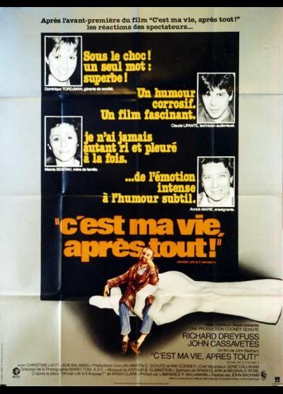 affiche du film C'EST MA VIE APRES TOUT