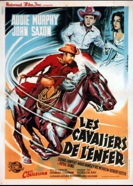 affiche du film CAVALIERS DE L'ENFER (LES)