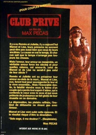 CLUB PRIVE POUR COUPLES AVERTIS movie poster