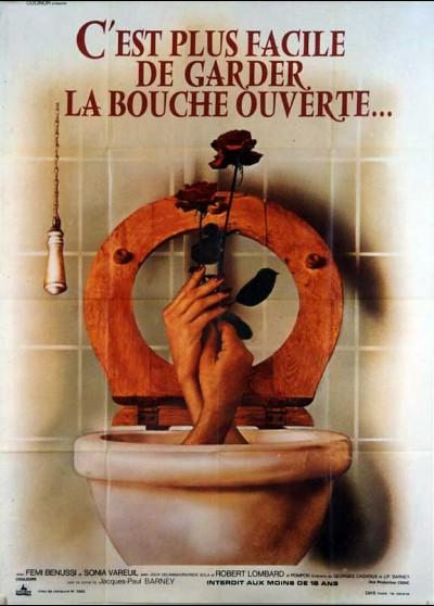 affiche du film C'EST PLUS FACILE DE GARDER LA BOUCHE OUVERTE