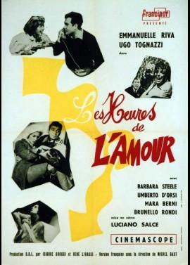 affiche du film HEURES DE L'AMOUR (LES)