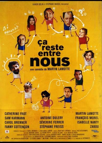 CA RESTE ENTRE NOUS movie poster