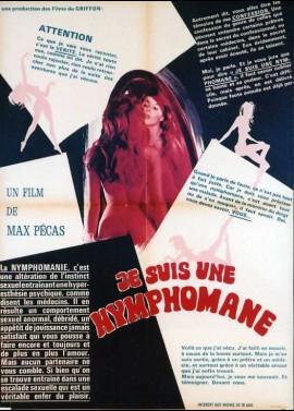 JE SUIS UNE NYMPHOMANE movie poster