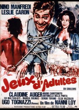 affiche du film JEUX D'ADULTES