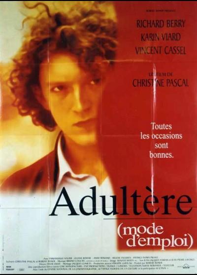 affiche du film ADULTERE MODE D'EMPLOI