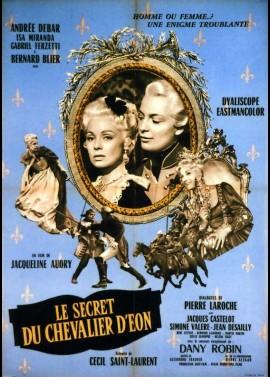 affiche du film SECRET DU CHEVALIER D'EON (LE)