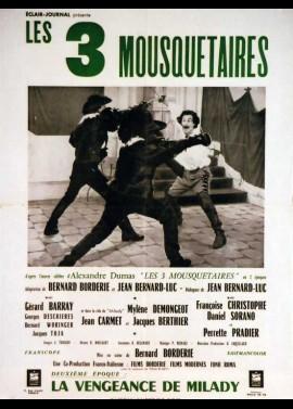 affiche du film TROIS MOUSQUETAIRES 2 EME EPOQUE LA VENGEANCE DE MILADY (LES)