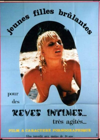 affiche du film JEUNES FILLES BRULANTES POUR DES REVES INTIMES TRES AGITES