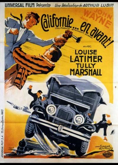 affiche du film CALIFORNIE EN AVANT