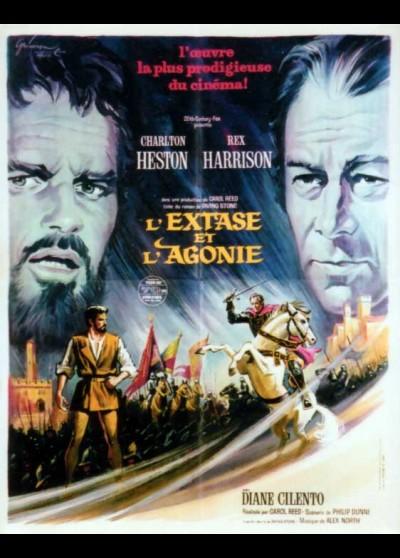 affiche du film EXTASE ET L'AGONIE (L')