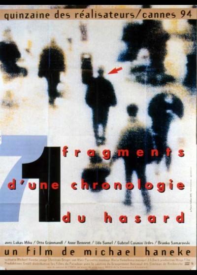 71 FRAGMENTE EINER CHRONOLOGIE DES ZUFALLS movie poster