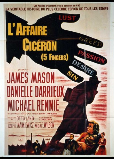 affiche du film AFFAIRE CICERON (L')