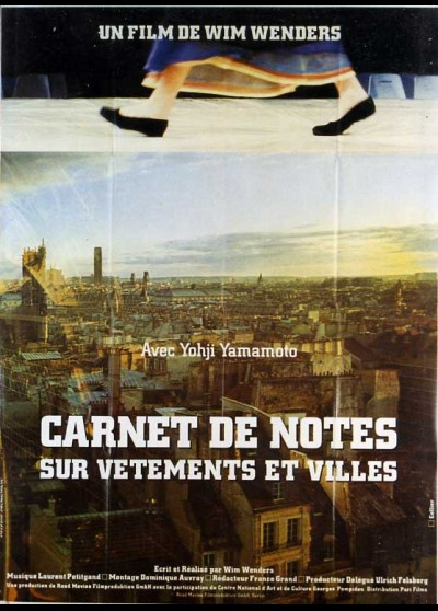 affiche du film CARNET DE NOTES SUR VETEMENTS ET VILLE