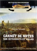 CARNET DE NOTES SUR VETEMENTS ET VILLE