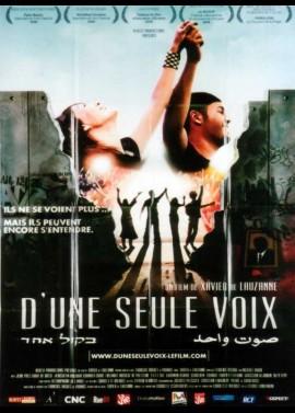 affiche du film D'UNE SEULE VOIX