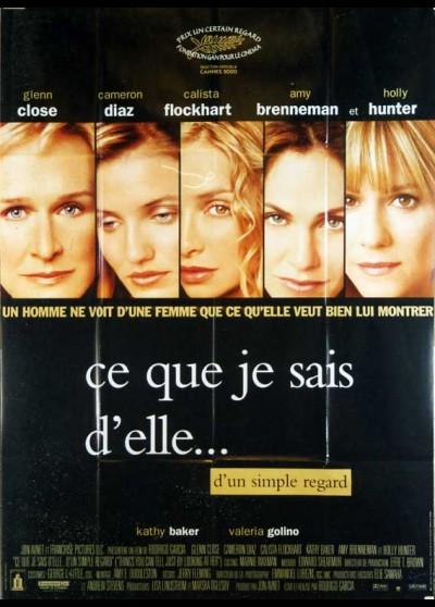 affiche du film CE QUE JE SAIS D'ELLE D'UN SIMPLE REGARD