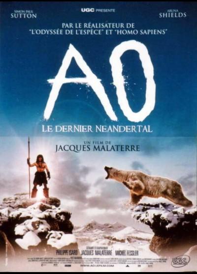 affiche du film AO LE DERNIER NEANDERTAL