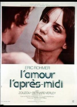 affiche du film AMOUR L'APRES MIDI (L')