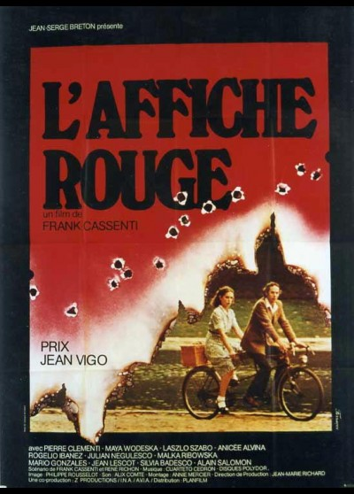 AFFICHE ROUGE (L') movie poster