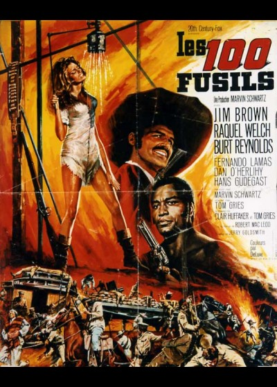 100 RIFLES / HUNDRED RIFLES movie poster