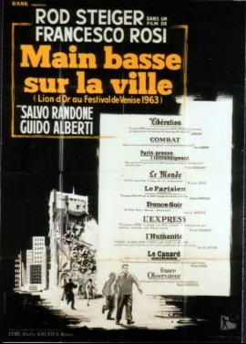 affiche du film MAIN BASSE SUR LA VILLE