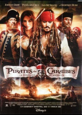 PIRATES OF THE CARRIBEAN ON STRANGER TIDES movie poster