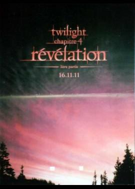 affiche du film TWILIGHT CHAPITRE 4 REVELATION PREMIERE PARTIE
