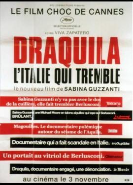 affiche du film DRAQUILA L'ITALIE QUI TREMBLE