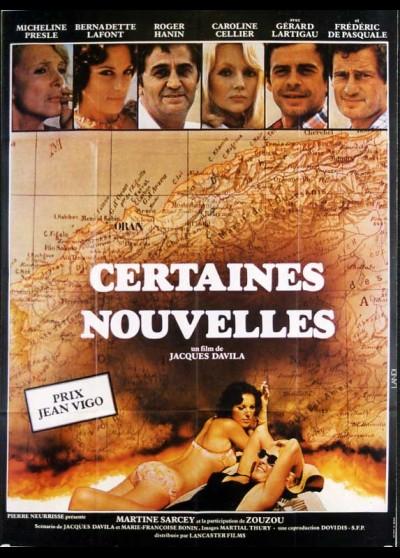 affiche du film CERTAINES NOUVELLES