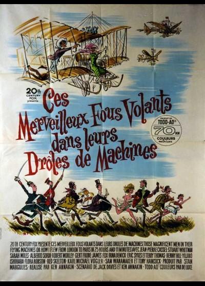 affiche du film CES MERVEILLEUX FOUS VOLANTS DANS LEURS DROLES DE MACHINES