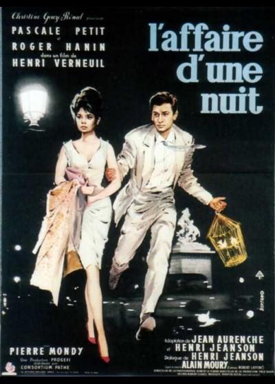 affiche du film AFFAIRE D'UNE NUIT (L')