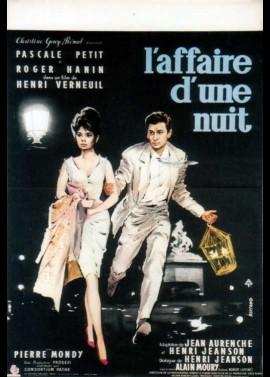 AFFAIRE D'UNE NUIT (L') movie poster