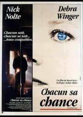 affiche du film CHACUN SA CHANCE