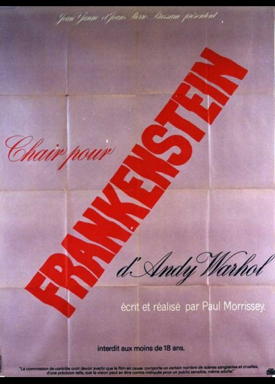 affiche du film CHAIR POUR FRANKENSTEIN