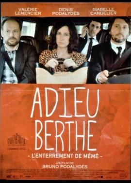 affiche du film ADIEU BERTHE L'ENTERREMENT DE MEME