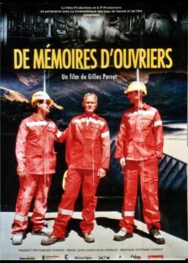 DE MEMOIRES D'OUVRIERS movie poster