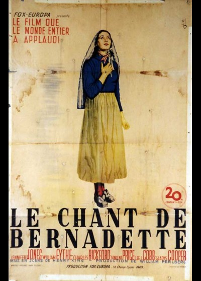 SONG DE BERNADETTE (THE) movie poster