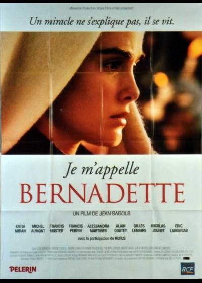 JE M'APPELLE BERNADETTE movie poster
