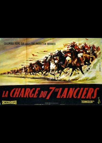 affiche du film CHARGE DU SEPTIEME LANCIERS (LA)