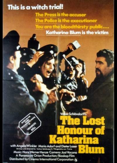affiche du film HONNEUR PERDU DE KATHARINA BLUM (L')