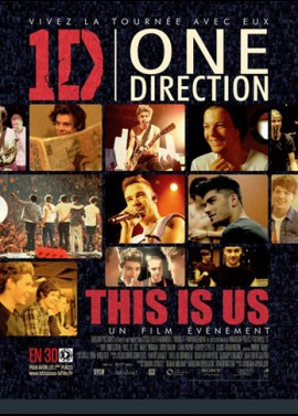 affiche du film ONE DIRECTION THIS IS US