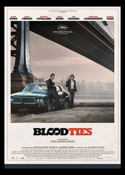 BLOOD TIES movie poster