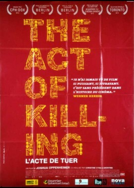 affiche du film ACT OF KILLING (THE) / L'ACTE DE TUER