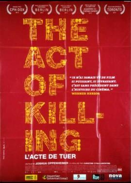 affiche du film ACT OF KILLING (THE) / L'ACTE DE TUER