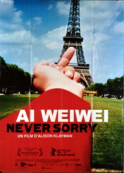 AI WEIWEI NEVER SORRY movie poster