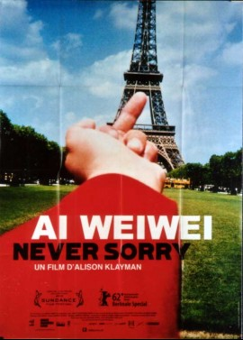 affiche du film AI WEIWEI NEVER SORRY
