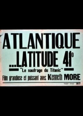 affiche du film ATLANTIQUE LATITUDE QUARANTE ET UN DEGRES