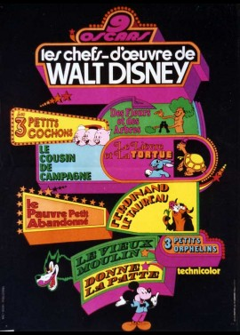affiche du film CHEFS D'OEUVRE DE WALT DISNEY (LES)